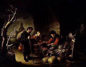 Gerrit (Gerard) Dou: Die Heringsverkäuferin und der Bettler