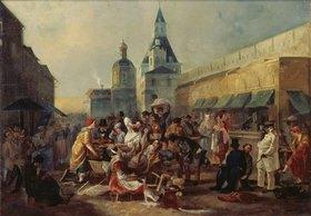 Wassilij Astrachov: Erfrischungsstände an der chinesischen Mauer in Moskau