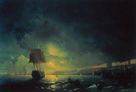Konstant.Iwan Aiwassowskij: Blick über Odessa bei Mondschein