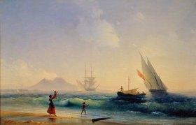 Konstant.Iwan Aiwassowskij: Begrüssung der rückkehrenden Fischer in der Bucht von Neapel