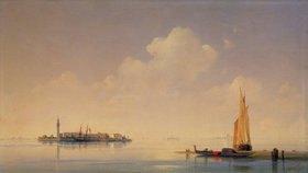 Konstant.Iwan Aiwassowskij: Die Lagune von Venedig. Blick nach San Giorgio