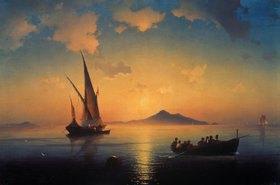Konstant.Iwan Aiwassowskij: Abendstimmung über der Bucht von Neapel
