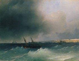 Iwan Konstantinovich Aiwassowskij: Blick vom Meer aus auf Odessa