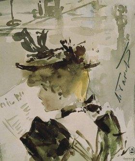 Leon Nikolajewitsch Bakst: Lesende Frau. 1890-er Jahre