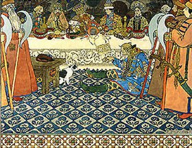 Iwan Bilibin: Illustration zu Puschkin's 'Die Märchen des Zaren Saltan'