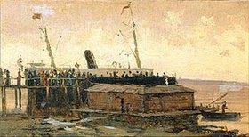 Alexej Petrowitsch Bogoljubov: Ein Passagierdampfer an der Pier