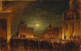 Alexej Petrowitsch Bogoljubov: Früher Morgen im Moskauer Kreml
