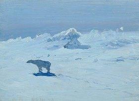 Alexander Borisov: Eisbär-Jagd im Mondlicht