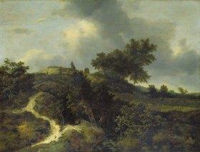 Jacob Isaacksz van Ruisdael: Sandhügel, mit Bäumen bewachsen