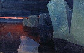 Alexander Borisov: Eisberge und Sonnenuntergang