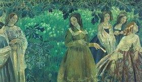 Viktor Borissow-Mussatow: Smaragdgrün (sechs Frauen)