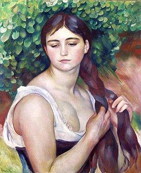 Auguste Renoir: La Natte (Junge Frau, ihren Zopf flechtend)