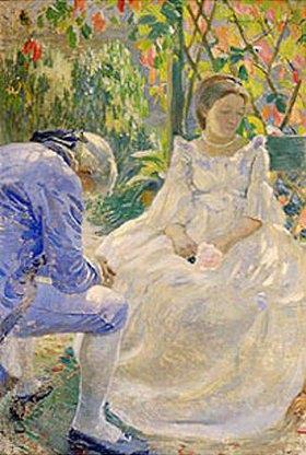Viktor Borissow-Mussatow: Herbstmelodie (Paar im Garten).