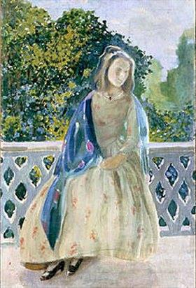 Viktor Borissow-Mussatow: M�dchen auf einem Balkon. 1900.