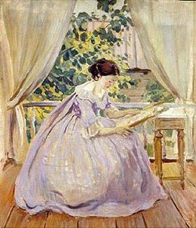 Viktor Borissow-Mussatow: Frau beim Sticken. 1901.