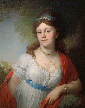 Wladimir Luk Borowikowski: Bildnis der E. Temkina,Tochter der Zarin Katharina II. und Prinz Potemkin