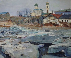Isaak Brodskij: Teibendes Eis in Pskov