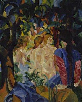 August Macke: Badende Mädchen. 1913.