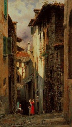 Feodor Andrejew Bronnikoff: Strassenszene in Bellagio
