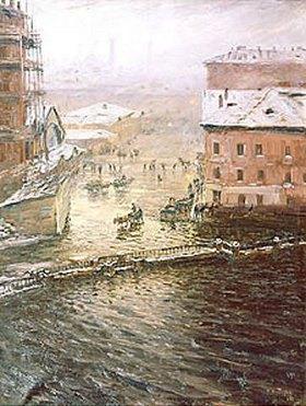 Nikolaj Dubowskoj: Überschwemmung in St. Petersburg