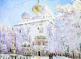 Nikolaj Dubowskoj: Winter in der Trinitäts-Sankt-Sergius Lavra in Sergiev Posad