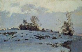 Iwan Endogurov: Russische Vorfrühlingslandschaft im Schnee