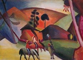 August Macke: Indianer auf Pferden