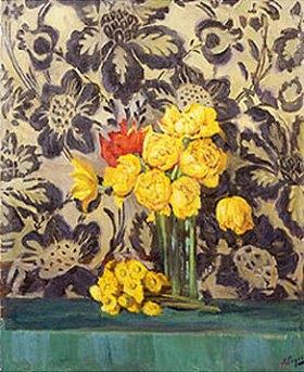 Alexander Gausch: Gelbe Blumen. Vor