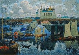 Konstantin Gorbatov: Am Pier in Novgorod