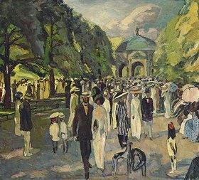 Albert Weisgerber: Im Münchner Hofgarten