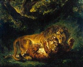 Eugene Delacroix: Kampf zwischen Löwe und Tiger
