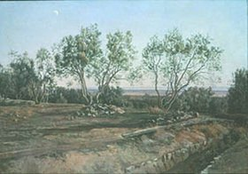 Alexander Iwanow: Olivenbäume bei Albano