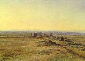 Alexander Iwanow: Sonnenuntergang über italienische Landschaft