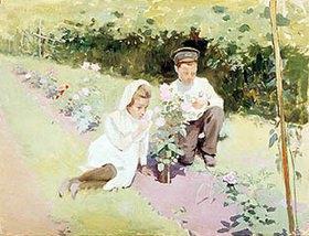 Jakov Kalinichenko: Junges Paar am Rosenbusch