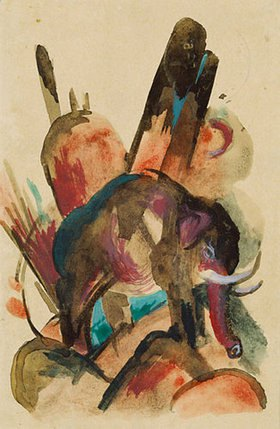 Franz Marc: Elefant