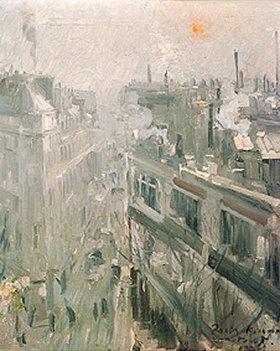 Alexejew. Konstantin Korovin: Blick über Dächer in Paris
