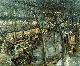 Alexejew. Konstantin Korovin: Paris, das Café de la Paix