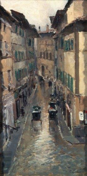 Alexejew. Konstantin Korovin: Regnerischer Tag in Florenz