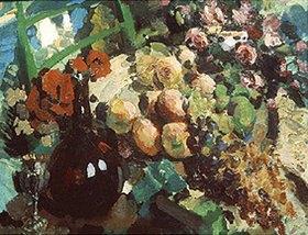 Alexejew. Konstantin Korovin: Stillleben mit Früchten und Trauben