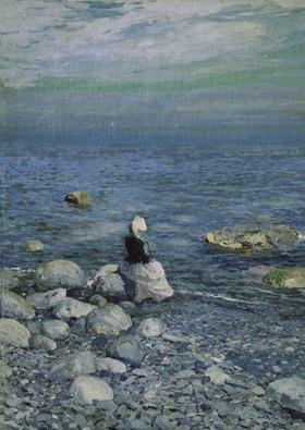 Alexejew. Konstantin Korovin: Am Strand des Schwarzen Meeres. 1890-er Jahre
