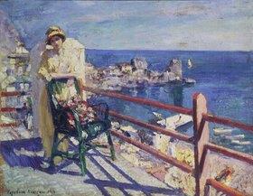 Alexejew. Konstantin Korovin: Frau auf der Terrasse (Gursuph)