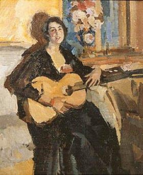 Alexejew. Konstantin Korovin: Frau mit Gitarre