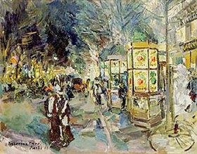 Alexejew. Konstantin Korovin: Auf einem abendlichen Boulevard in Paris. Ende 1910-er Jahre