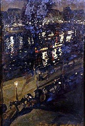 Alexejew. Konstantin Korovin: Lichtspiegelungen im nächtlichen Paris