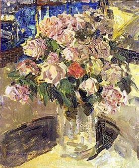 Alexejew. Konstantin Korovin: Rosenstrauss in Glasvase