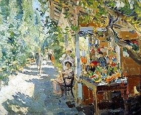 Alexejew. Konstantin Korovin: Obstverkaufsstände auf der Krim