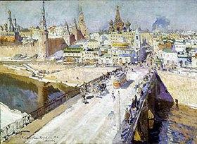 Alexejew. Konstantin Korovin: Brücke über die Moskva in Mosk