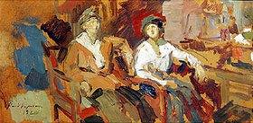 Alexejew. Konstantin Korovin: Zwei Damen in Korbstühlen