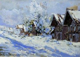 Alexejew. Konstantin Korovin: Russisches Dorf im Winter. 20. Jahrhundert