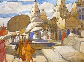 Alexej Krawtschenko: Pagoden in Benares